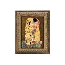 Porzellanbild Der Kuss von Gustav Klimt - 19,5 x 16 cm