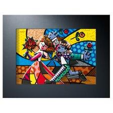 Porzellanbild Follow Me von Romero Britto - 35 x 45 cm