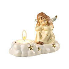 Dekorationsfigur Engel-Träumerle im Kerzenschein