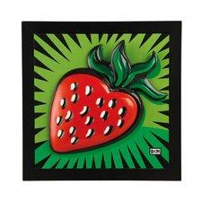 Gerahmtes Wandbild Strawberry - 34 x 34 cm