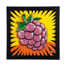 Gerahmtes Wandbild Raspberry - 34 x 34 cm