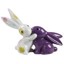 Colour Splash Bunny in Love Decorative Figure