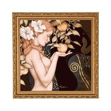 Gerahmtes Wandbild Golden Serpent von Michael Parkes