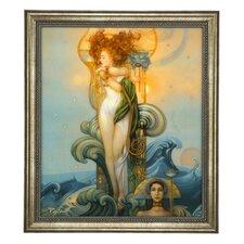Gerahmtes Wandbild Venus von Michael Parkes - 60 x 52,5 cm