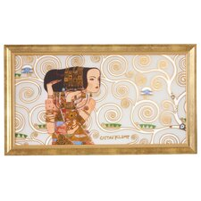 Gerahmtes Wandbild Die Erwartung Der Lebensbaum von Gustav Klimt - 48 x 84 cm