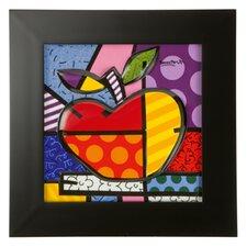 Gerahmtes Wandbild Big Apple von Romero Britto - 32,5 x 32,5 cm