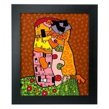 Gerahmtes Wandbild Hugs and Kisses von Markus Göpfert - 49 x 42 cm