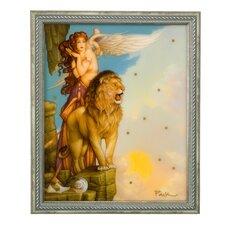 Gerahmtes Wandbild Lions Return von Michael Parkes - 42,5 x 35,5 cm
