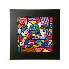"""Gerahmtes Bild """"Children of the World"""" von Romero Britto, Kunstdruck"""