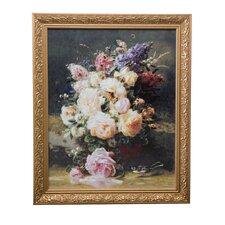 "Gerahmtes Wandbild ""Stillleben mit Rosen"" Kunstdruck"