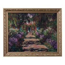 """Gerahmtes Wandbild """"Der Weg des Künstlers"""" von Claude Monet, Kunstdruck"""