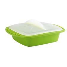 Square Silicone 1 qt. Steamer with Lid