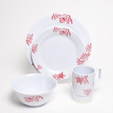 Decorated Coral 16 Piece Dinnerware Gift Set