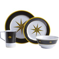 Decorated Melamine 16 Piece Dinnerware Set
