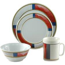 Decorated Life Preserver 16 Piece Dinnerware Gift Set
