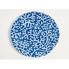 """Yacht and Home 11"""" Melamine Coral Dinner Plate (Set of 4)"""