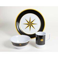 Decorated Melamine Compass 18 Piece Dinnerware Set