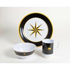 Decorated Melamine Compass 12 Piece Dinnerware Set