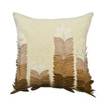 Potpourri Felt Leaves Applique Cotton Throw Pillow