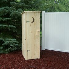 2 Ft. W x 2 Ft. D Wood Outhouse Storage Shed