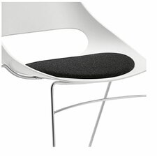 Echo Armless Stacking Chair white w/black vinyl seat cushion (Set of 4)