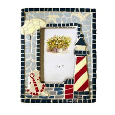 Mosaic Lighthouse Picture Frame