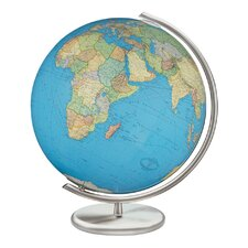 Kiel Illuminated Glass Desktop Globe