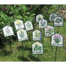 Painted Herb Garden Sign