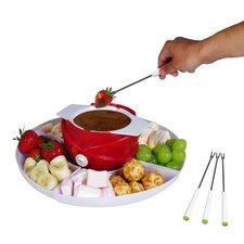 Chocolate fondue made of plastic