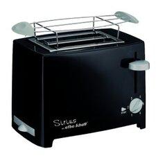 Kompakt-Toaster Designer 2 Scheiben mit Brötchenaufsatz