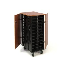 24-Compartment Tablet Charging and Storage Cart