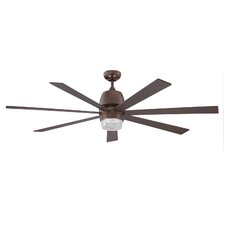 "60"" Sixty-Seven 7 Blade Ceiling Fan with Wall Remote"