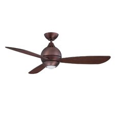"44"" Sphere 2 3 Blade Ceiling Fan with Wall Remote"