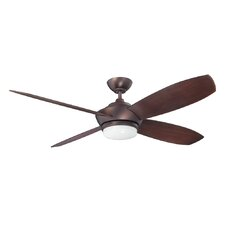"""52"""" Zeta 4 Blade Ceiling Fan with Wall Remote"""