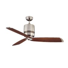 "52"" Tris 3 Blade Ceiling Fan with Wall Remote"