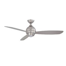 "52"" Sphere 3 Blade Ceiling Fan with Wall Remote"