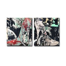 Urban Fashion XIX 2 Piece Graphic Art on Canvas Set
