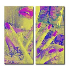 Urban Fashion IV 2 Piece Graphic Art on Canvas Set (Set of 2)
