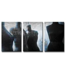 Urban Fashion X 3 Piece Graphic Art on Canvas Set (Set of 3)