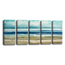 'Dreamers Shore' by Norman Wyatt Jr. 5 Piece Painting Print on Wrapped Canvas Set