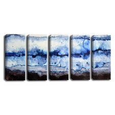 'Glacier' by Norman Wyatt Jr. 5 Piece Painting Print on Wrapped Canvas Set
