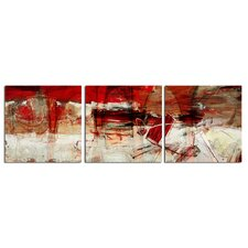 'Bueno Exchange XL' 3 Piece Painting Print on Wrapped Canvas Set