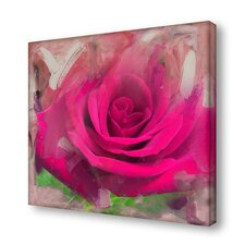 'Painted Petals XL' Photographic Print on Wrapped Canvas
