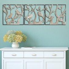 3 Piece Bird Panels Wall Décor Set