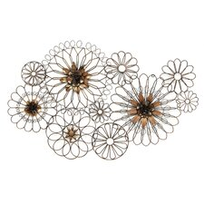 Whimsical Wire Flowers Wall Décor