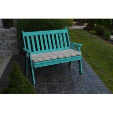Traditional English Plastic Garden Bench