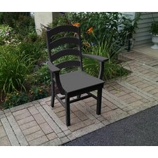 Poly Ladderback Dining Arm Chair