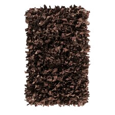 Handmade Dark Brown Area Rug