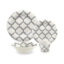 Ikat Arabesque Melamine 16 Piece Dinnerware Set