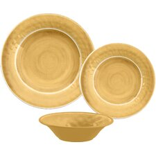 Glazed Crackle Melamine 12 Piece Dinnerware Set